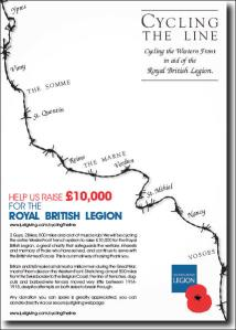 Cycling the WW1 Western Front in aid of the Royal British Legion