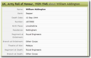 ww2 roll of honour