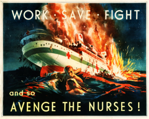 Propaganda Poster in reaction to the sinking of the Centaur