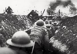 Soldiers waiting to go over the top - Somme 1916