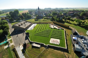 arial view of Fromelles cemetery
